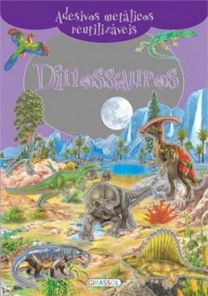 Adesivos Metálicos Reutilizáveis - Dinossauros