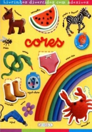 Livrinhos divertidos com adesivos - Cores