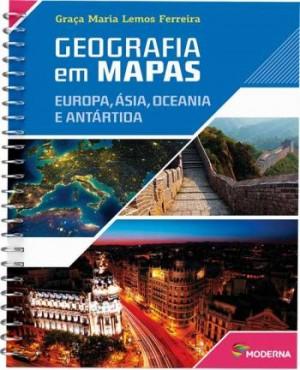 Geografia em Mapas: Europa, Ásia, Oceania e Antártida - 5ª Edição